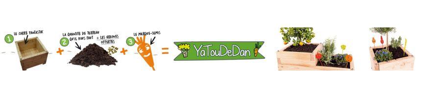 YaTouDan - le carré + le terreau + les graines + les marque-semis